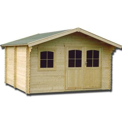 Abri de jardin en bois massif 28 mm 11 04 m achat vente abri jardin chalet abri de for Abri de jardin en bois destockage