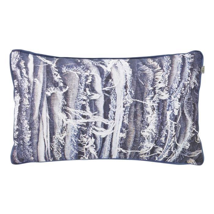 housse de coussin vinny 30x50 cm bleu achat vente. Black Bedroom Furniture Sets. Home Design Ideas
