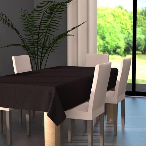 nappe rectangulaire l240 cm palermo noir achat vente nappe de table cdiscount. Black Bedroom Furniture Sets. Home Design Ideas
