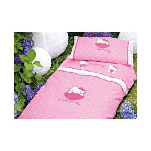 parure de draps hello kitty heart pour lit rose achat. Black Bedroom Furniture Sets. Home Design Ideas
