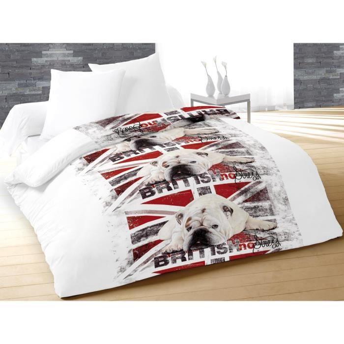 soleil d 39 ocre couette temp r e imprim e no stress 220x240 cm rouge achat vente couette. Black Bedroom Furniture Sets. Home Design Ideas