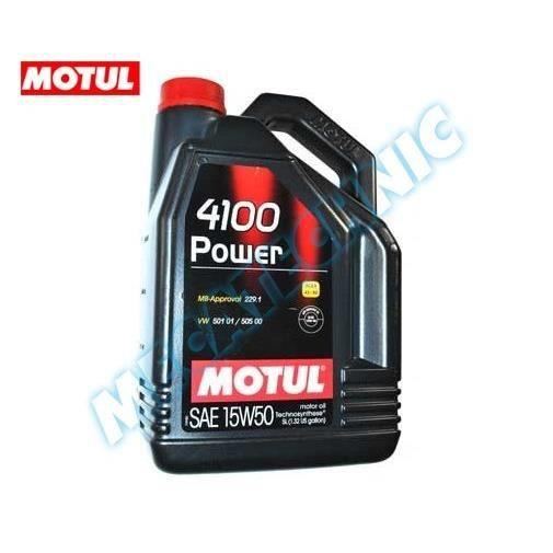 huile motul 4100 power 15w50 5 litres achat vente lubrifiant moteur huile motul 4100. Black Bedroom Furniture Sets. Home Design Ideas
