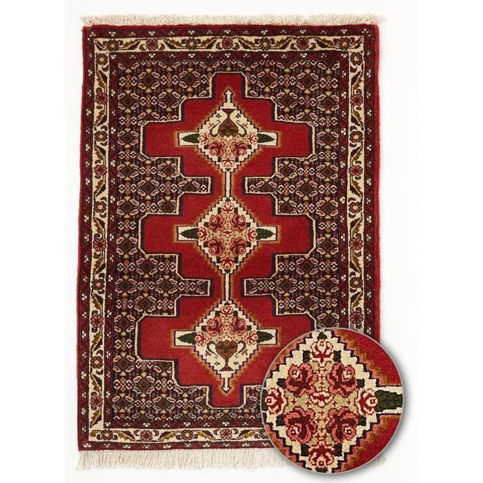 Tapis d 39 orient senneh 2 bordeaux 73x100 par u achat vente tapis - Tapis shaggy bordeaux ...