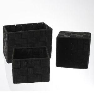 Panier de rangement noir achat vente panier de rangement noir pas cher cdiscount - Panier de rangement pas cher ...
