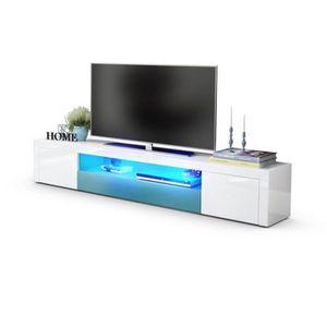 Meuble tv blanc laque haut achat vente meuble tv blanc for Meuble tv haut blanc laque