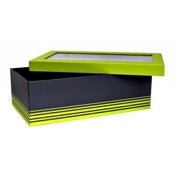 bo te verte et grise avec fen tre achat vente boites de conservation bo te verte et grise. Black Bedroom Furniture Sets. Home Design Ideas