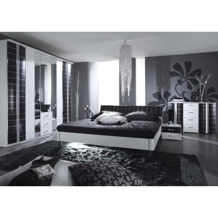Chambre compl te ref black white1 achat vente chambre - Chambre adulte cdiscount ...