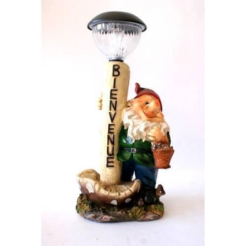 Nain de jardin lampe solaire a22 35492n 1 achat vente statue statuette nain de jardin for Lampe solaire jardin brico