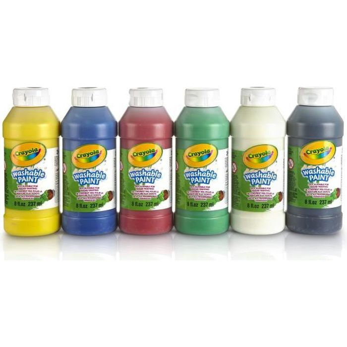 crayola 6 bouteilles de peinture lavable achat vente kit de dessin cdiscount. Black Bedroom Furniture Sets. Home Design Ideas