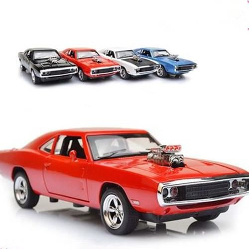 voiture 1 32 scale alloy diecast fast furious 7 dodge charger pull back rouge achat vente. Black Bedroom Furniture Sets. Home Design Ideas
