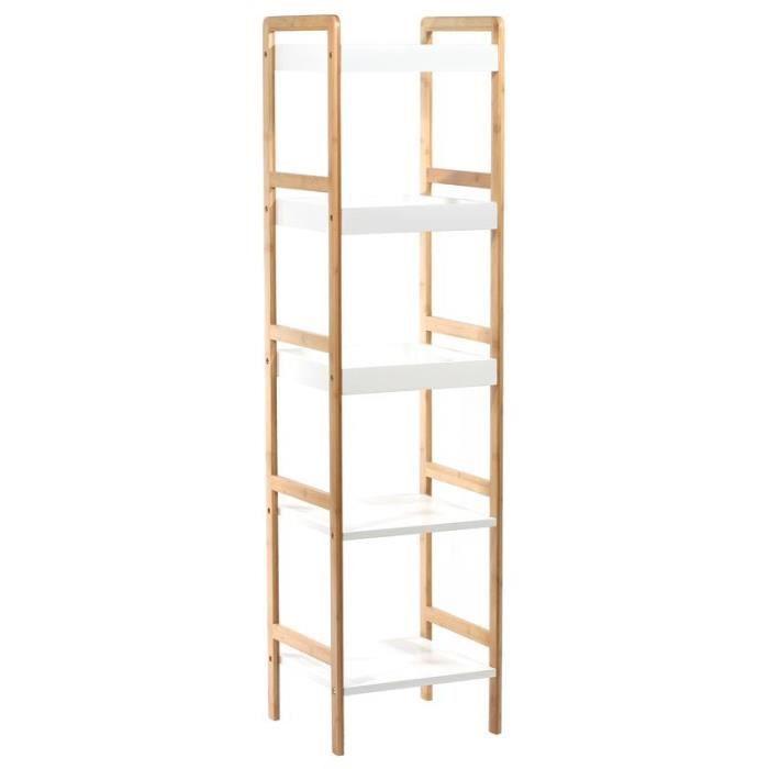 paris prix tag re bambou 5 niveaux blanc achat. Black Bedroom Furniture Sets. Home Design Ideas
