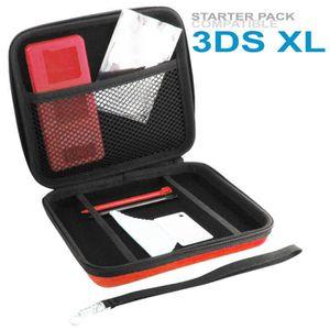 HOUSSE DE TRANSPORT Pack d'Accessoires Rouge 3DS XL