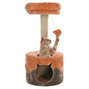 TRIXIE Nuria Arbre ? chat hauteur 71 cm orange et gris peluche et sisal naturel