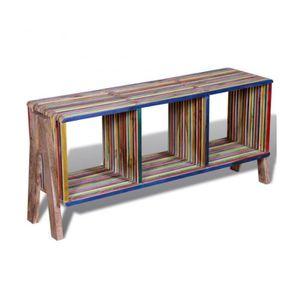meuble tv bois recycl achat vente meuble tv bois recycl pas cher cdiscount. Black Bedroom Furniture Sets. Home Design Ideas