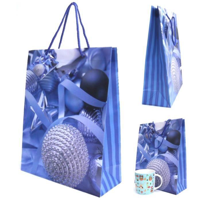 sac cadeau no l 32 x 26 x 10 cm pvc motif boules de no l achat vente pochette cadeau sac. Black Bedroom Furniture Sets. Home Design Ideas