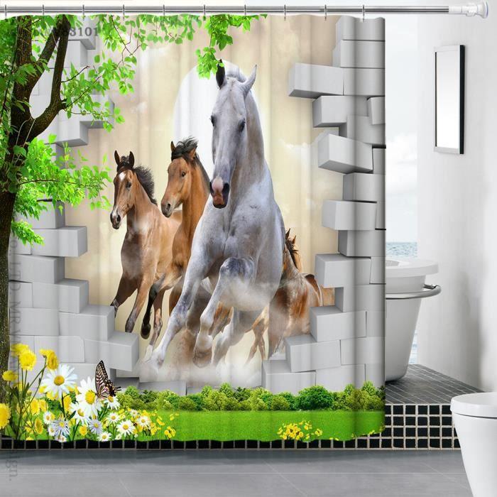 Wenko 2005110 rideau de douche en textile wild anti moisissure dimensions 180x180 cm achat - Rideau de douche 180x180 ...