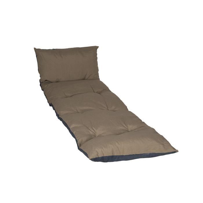 jardin prive bain de soleil flocons 186x55x5cm taupe achat vente coussin d 39 ext rieur. Black Bedroom Furniture Sets. Home Design Ideas