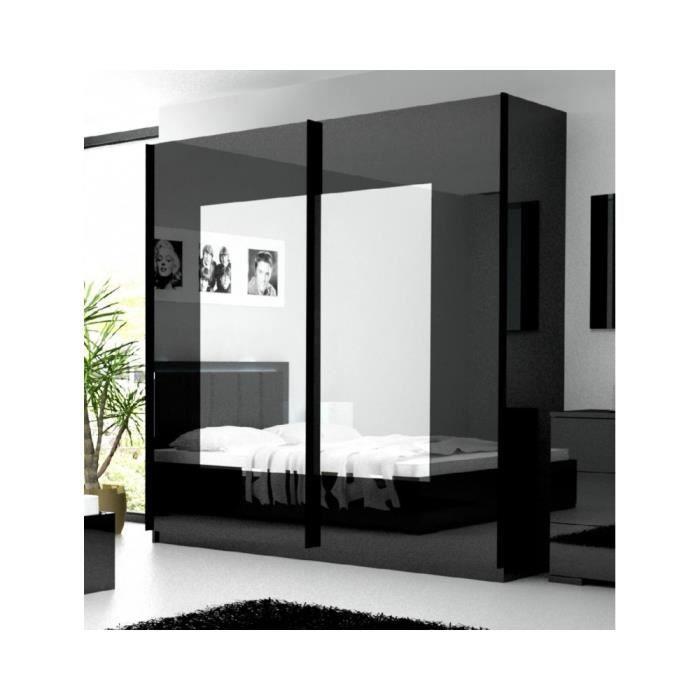 armoire penderie noire amelia achat vente armoire de chambre armoire penderie noire amelia. Black Bedroom Furniture Sets. Home Design Ideas