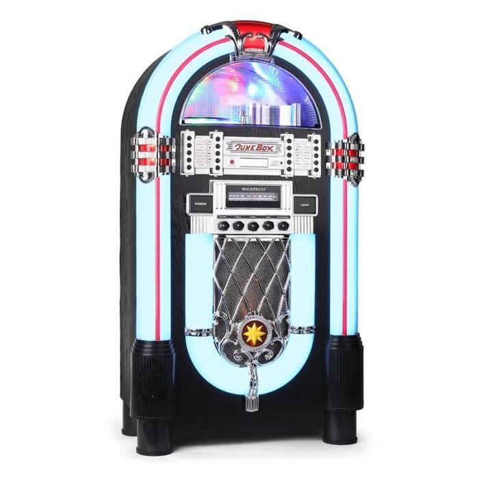 Ricatech rr 1000 jukebox cd fm am led achat vente - Jukebox de table ...
