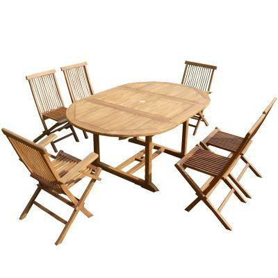 Salon De Jardin En Teck 4 Chaises Et 2 Fauteuils Achat