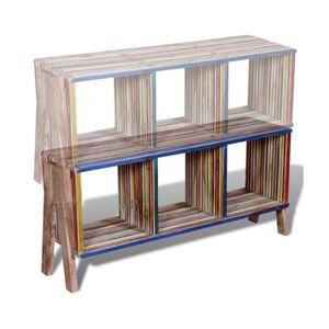 Meuble tv bois recycl achat vente meuble tv bois for Meubles en teck recycle