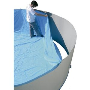 TORRENTE Liner pour piscine circulaire en PVC 350x90cm - Bleu