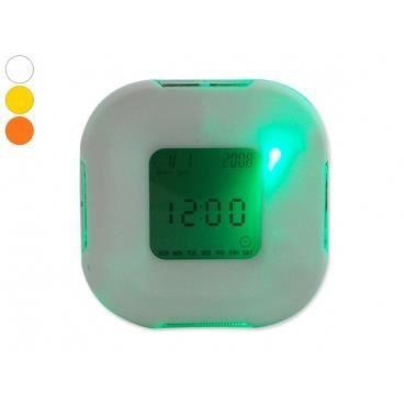 Horloge Design Digital - Horloge Thermometre Digital Design Blanc ...