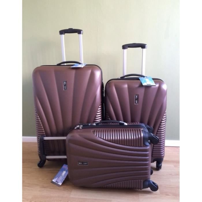 bellcafu set de 3 valises de voyage coque rigide achat. Black Bedroom Furniture Sets. Home Design Ideas