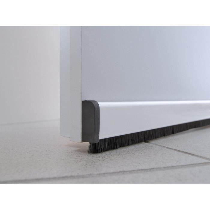 Bas de porte en alu 100 cm blanc achat vente boudin de porte cdiscount for Boudin de porte 100 cm