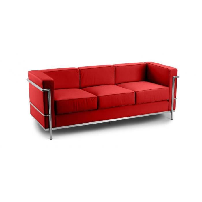 Canap design lc2 inspir charles le corbusier 3 p achat vente canap s - Canapes le corbusier ...