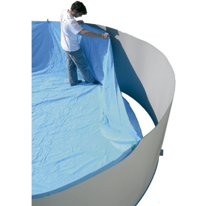 Torrente liner pour piscine circulaire en pvc 350x90cm for Liner 460x120 pour piscine ronde