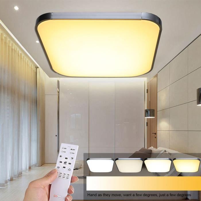 lampe de plafond 54w lampe led plafonnier lumi re salon avec t l commande achat vente lampe. Black Bedroom Furniture Sets. Home Design Ideas