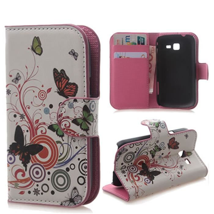 Pour samsung galaxy trend lite s7392 s7390 butterfly - Pochette pour samsung galaxy trend lite ...