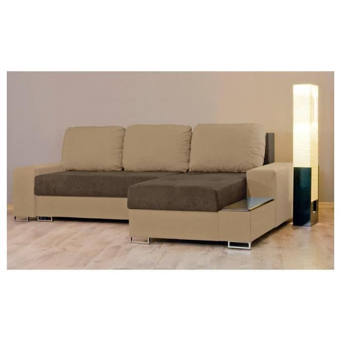 Justhome neptun ii canap d 39 angle l x l 155 x 248 for Canape d angle couleur chocolat