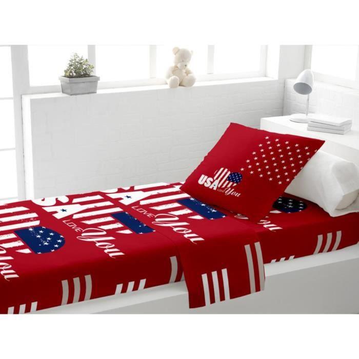 parure de lit 90x190 achat vente parure de lit 90x190 pas cher les soldes sur cdiscount. Black Bedroom Furniture Sets. Home Design Ideas