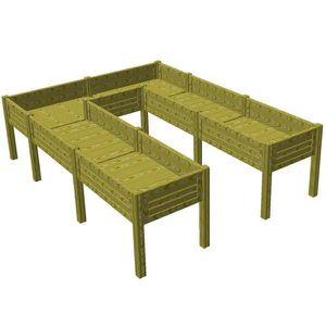 carre potager achat vente carre potager pas cher. Black Bedroom Furniture Sets. Home Design Ideas
