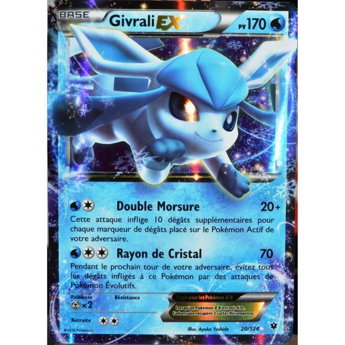 Carte pok mon 20 124 givrali ex 170 pv ultra rare xy impact des destins fr achat vente - Givrali pokemon ...