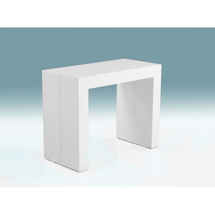 Table console extensible salom high glossy blanc achat vente console ext - Console extensible occasion ...