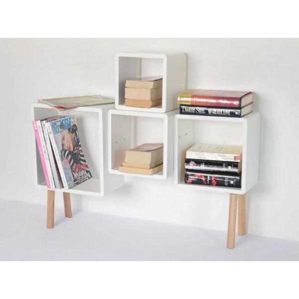 etageres sur pieds dali blanc couleur blanc achat. Black Bedroom Furniture Sets. Home Design Ideas