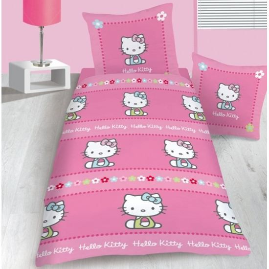 Object moved - Housse de couette hello kitty 1 personne ...