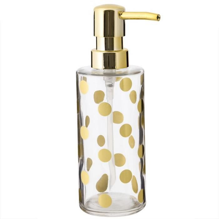 Distributeur savon dor achat vente distributeur de for Accessoire salle de bain dore