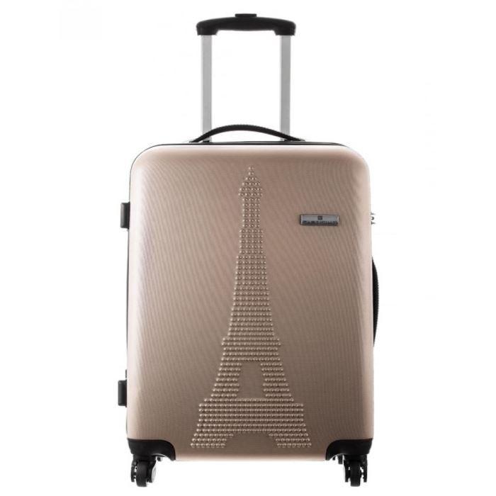 platinium valises femme valise paris sable sable achat vente valise bagage 3607070395929. Black Bedroom Furniture Sets. Home Design Ideas