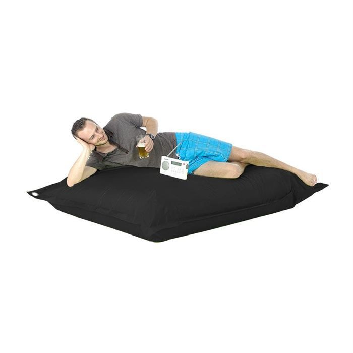 pouf g ant noir in out achat vente pouf poire. Black Bedroom Furniture Sets. Home Design Ideas