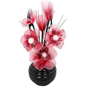 VASE - SOLIFLORE Flourish 813 Vase Noir 32 cm avec Mini fleur en fo