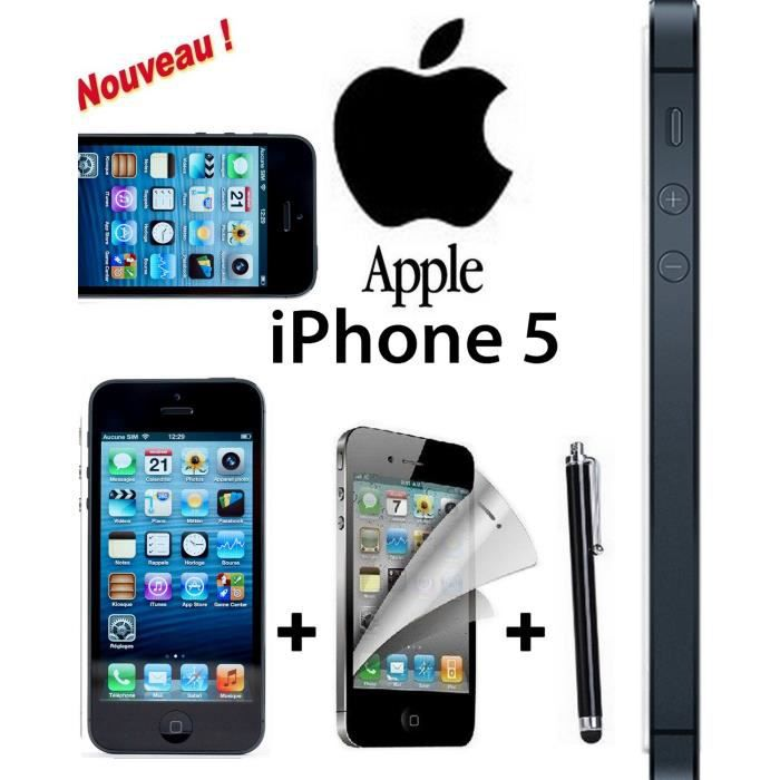 offre eclair apple iphone 5 noir 16 giga achat. Black Bedroom Furniture Sets. Home Design Ideas