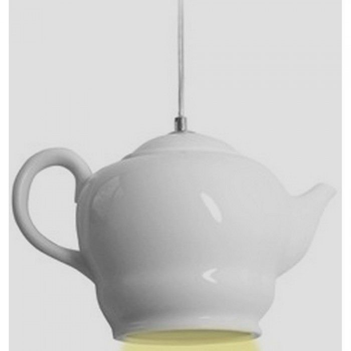 Lampe suspension tea pot couleur blanc mati re achat for Suspension originale cuisine