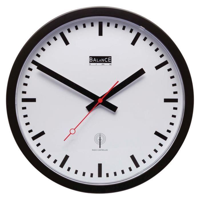 Horloge pendule murale a aiguilles dcf radiopilotee 30cm for Horloge murale 3 cadrans