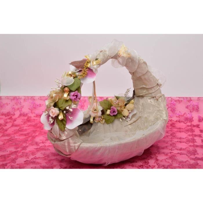 panier mariage fait main corbeille osier pour fleurs accessoire mariage achat vente objet. Black Bedroom Furniture Sets. Home Design Ideas