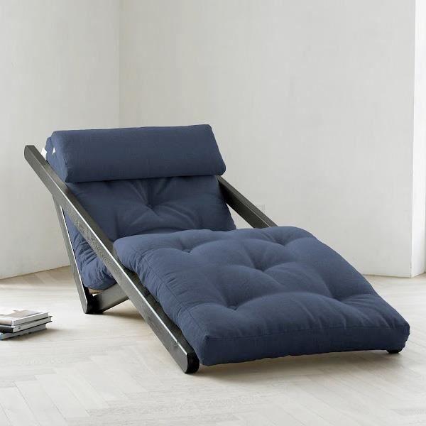 Fauteuil convertible figo 70 weng futon navy achat vente fauteuil pin ma - Fauteuil futon convertible 1 place ...