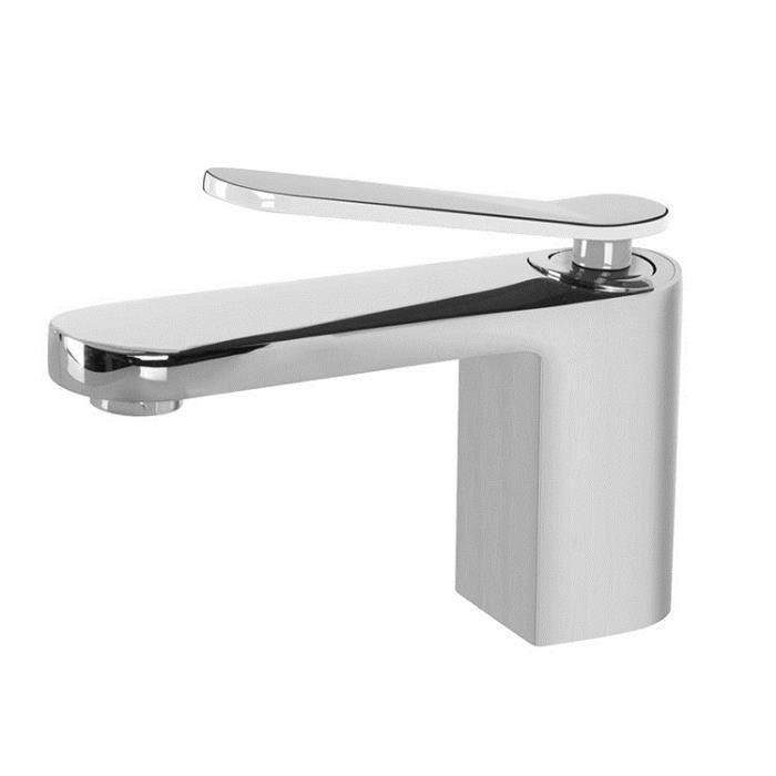 robinet mitigeur de lavabo avec un levier blanc achat vente robinetterie sdb robinet. Black Bedroom Furniture Sets. Home Design Ideas